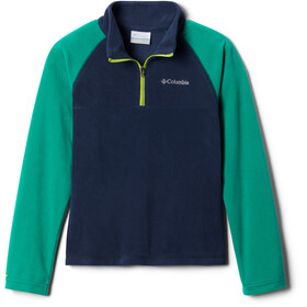 Columbia Glacial Fleece Half Zip Pullover Jungen collegiate navy/emerald green